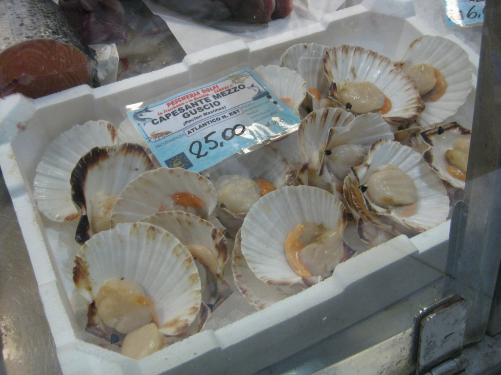 Fresh seafood at Mercato Centrale