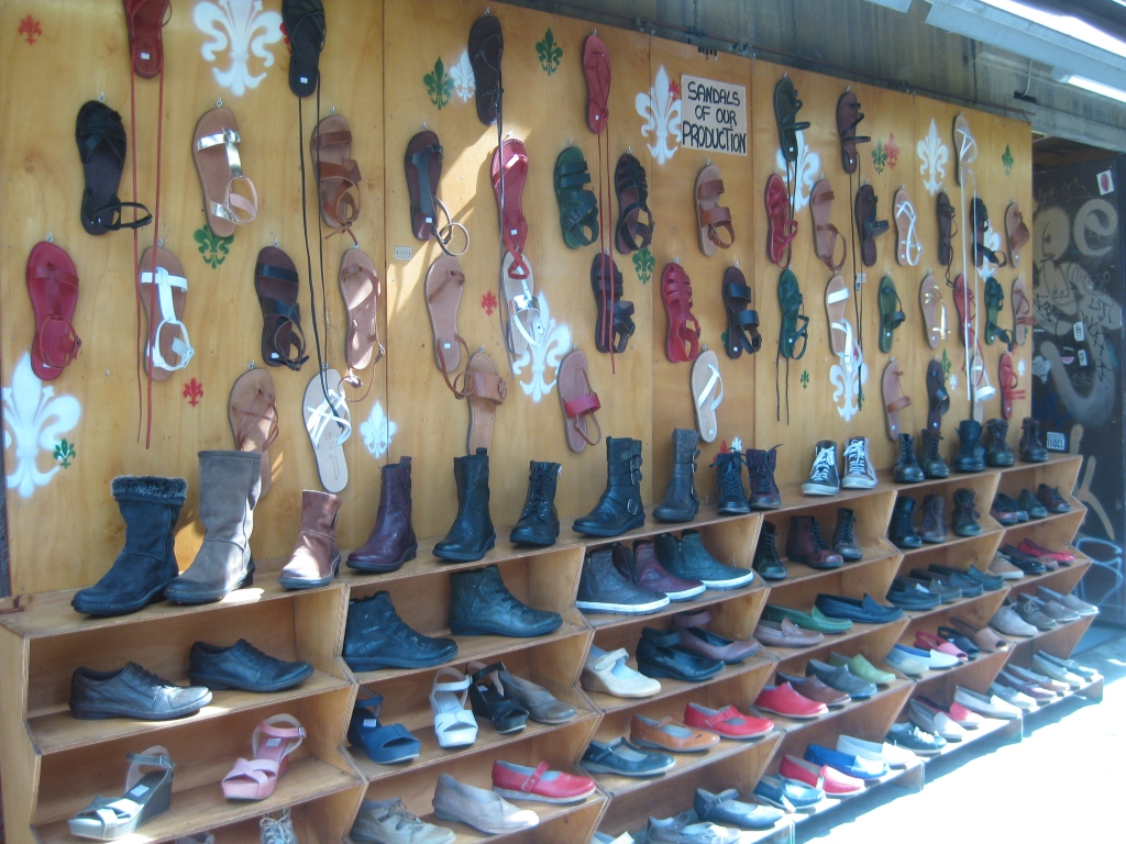 Shoes for sale at the San Lorenzo Markets