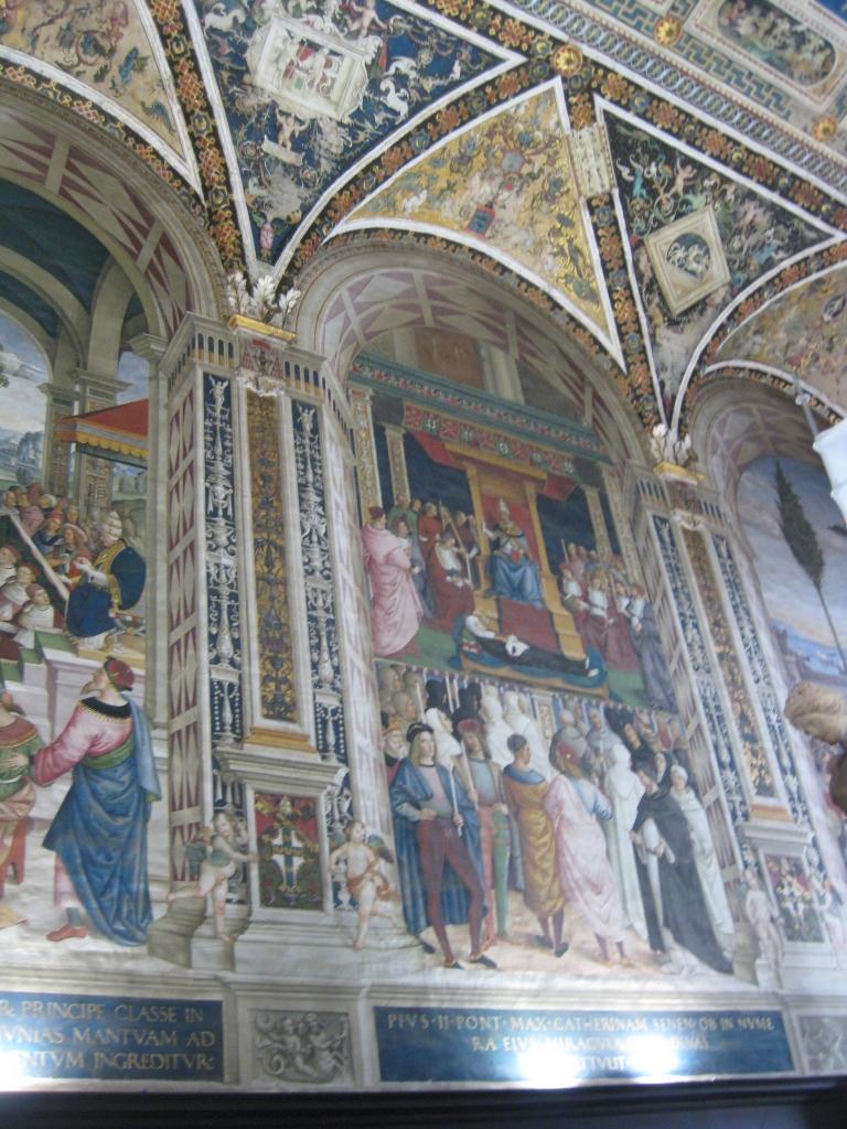 Murals inside of the duomo