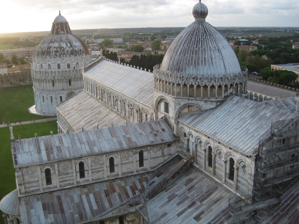 View of the duomo and baptistry