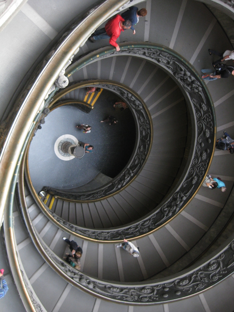 Spiral Staircase exiting the Vatican Museums
