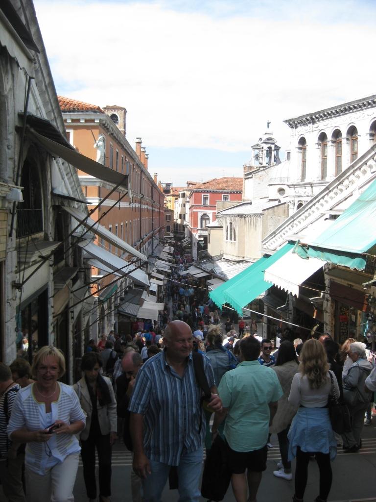 Shops by the Rialto Bridge