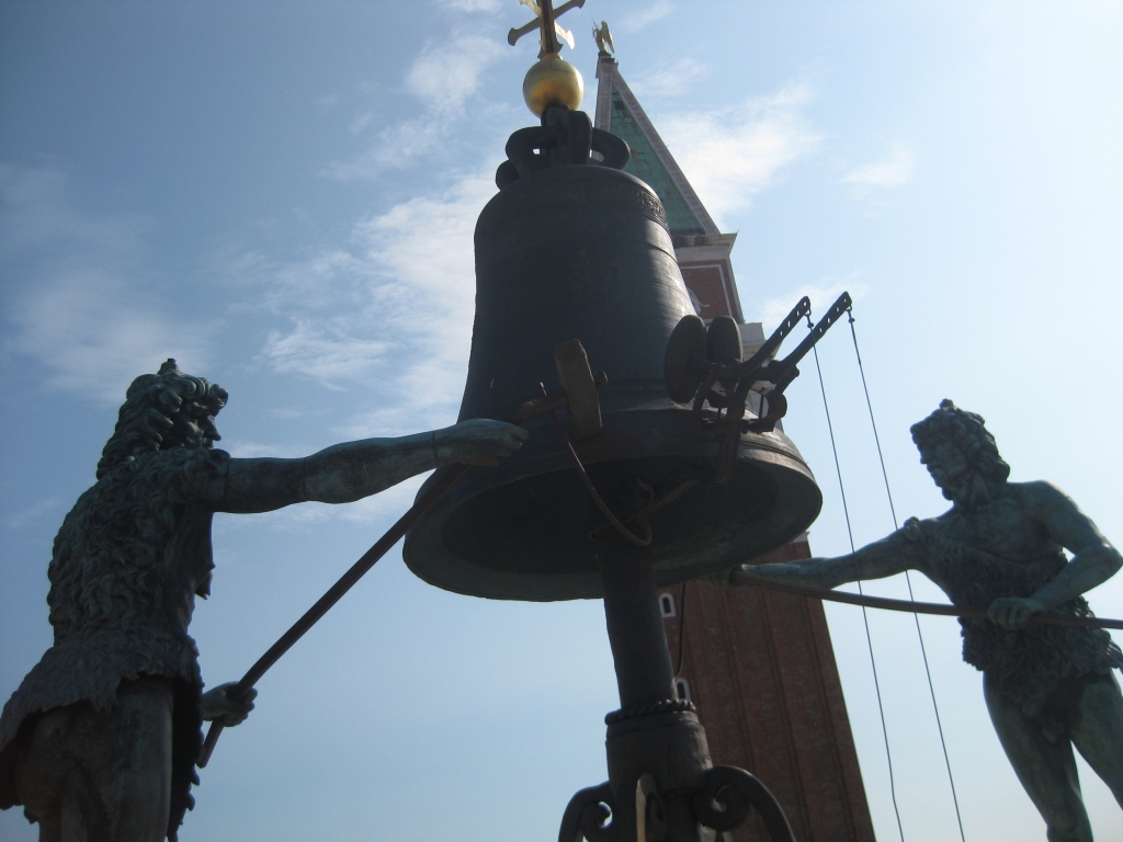 The moors at the top of the clock tower, who ring the bell