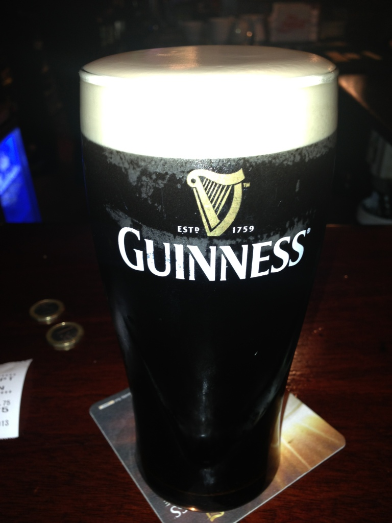 My very first authentic pint of Guinness - in Dublin, Ireland