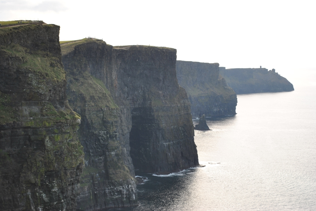 The cliffs