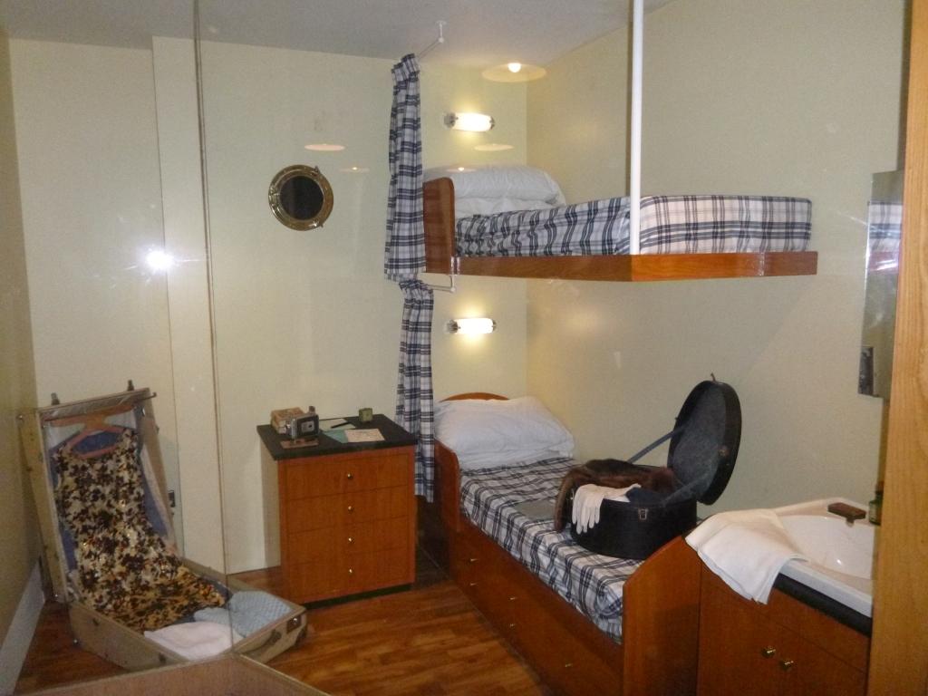 Replica of a cabin on the Titanic