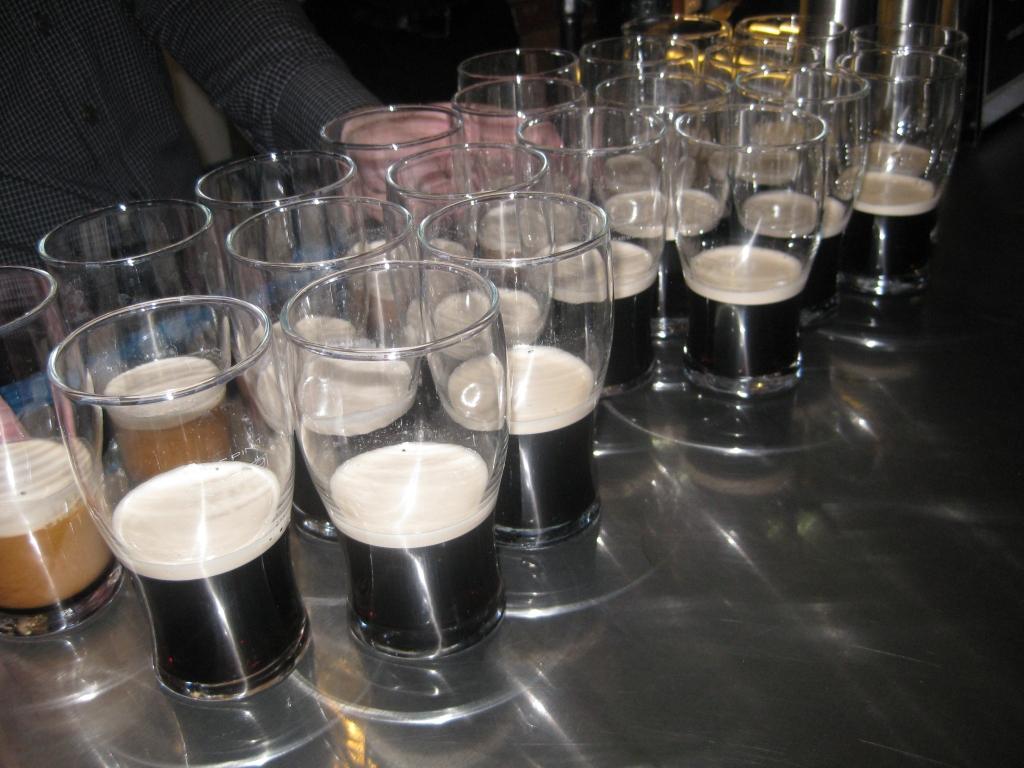 Samples of Guinness - don't mind if I do!