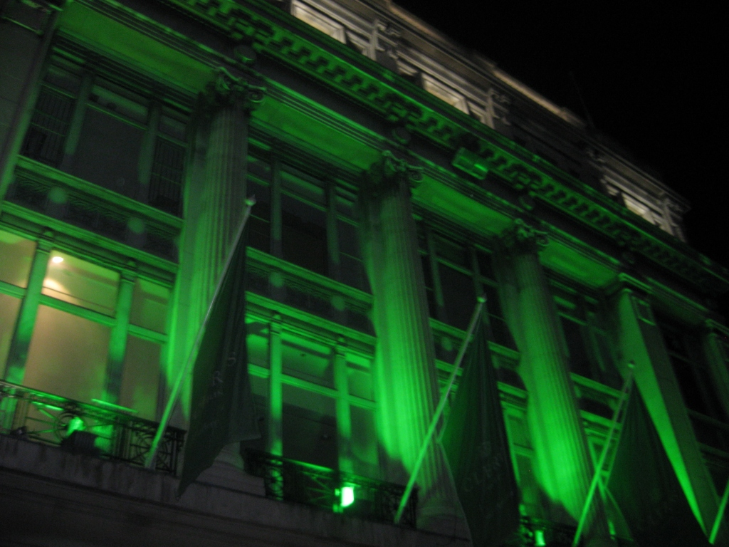 Greening of the City - I believe this was Clery's (similar to a Macy's)