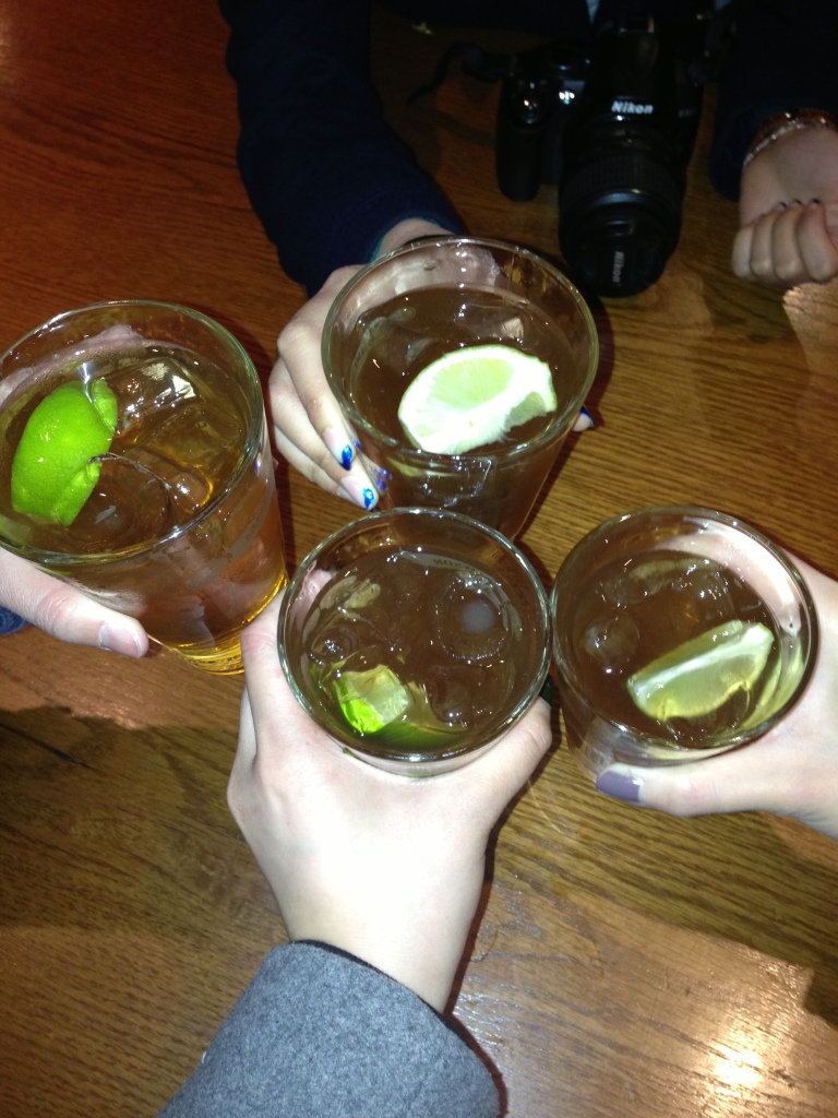 Jameson with ginger ale and lime