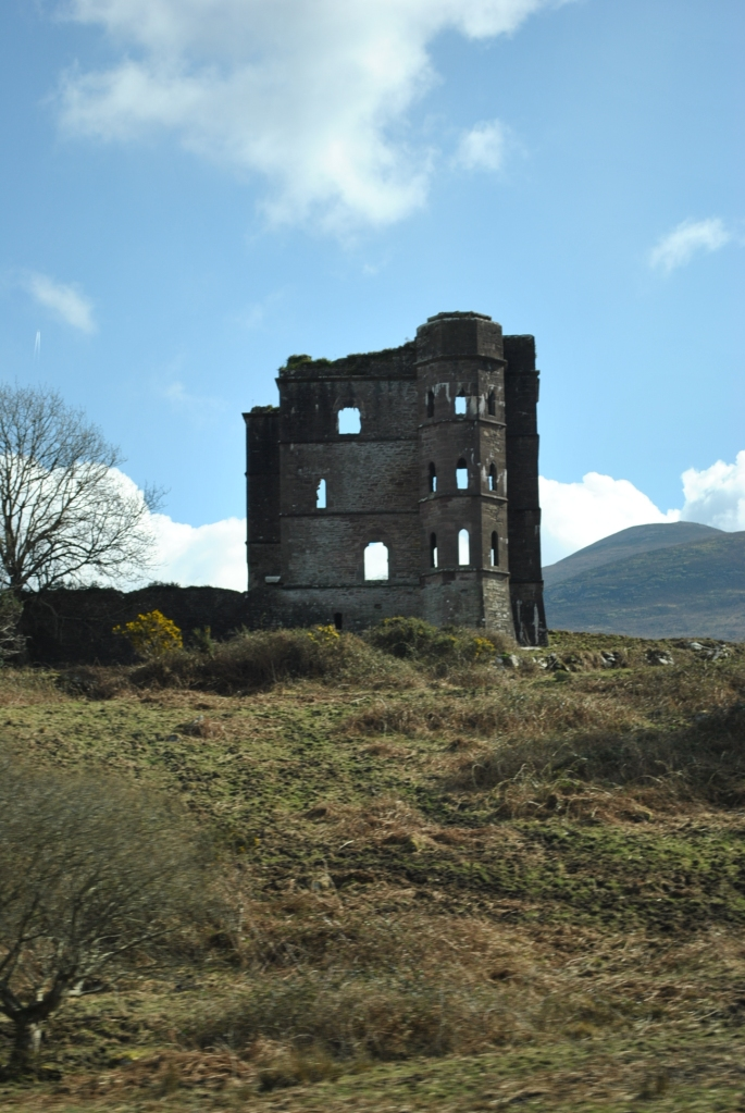 Half built castle along the Ring of Kerry