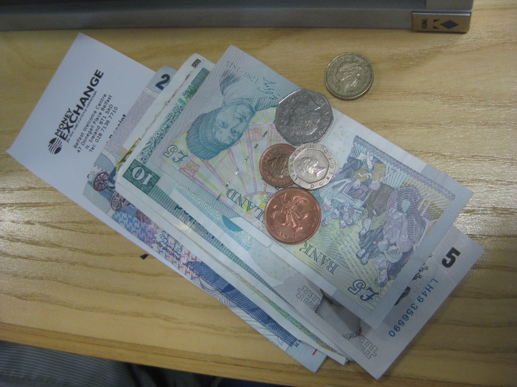 Don't forget to exchange some British Pound Sterling - they don't use Euros up here!