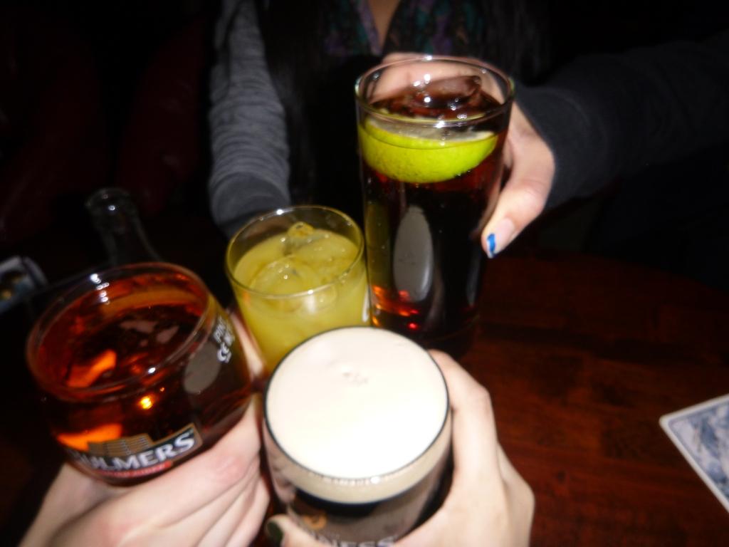 Last drinks in Dublin - til next time!!