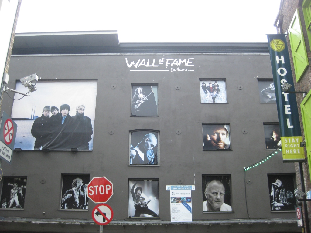 The Wall of Fame - can you spot Bono or Sinead?