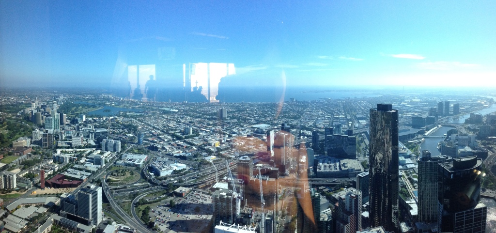 Eureka Skydeck - Melbourne, VIC - ignore the reflection!