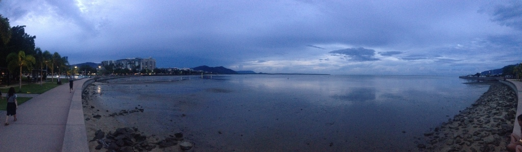 Cloudy day on the Cairns Esplanade in Cairns, QNS