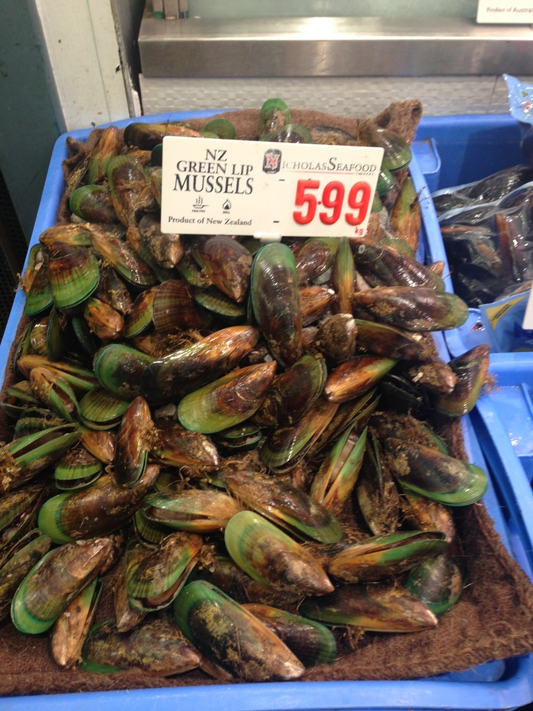 New Zealand green-lipped mussels