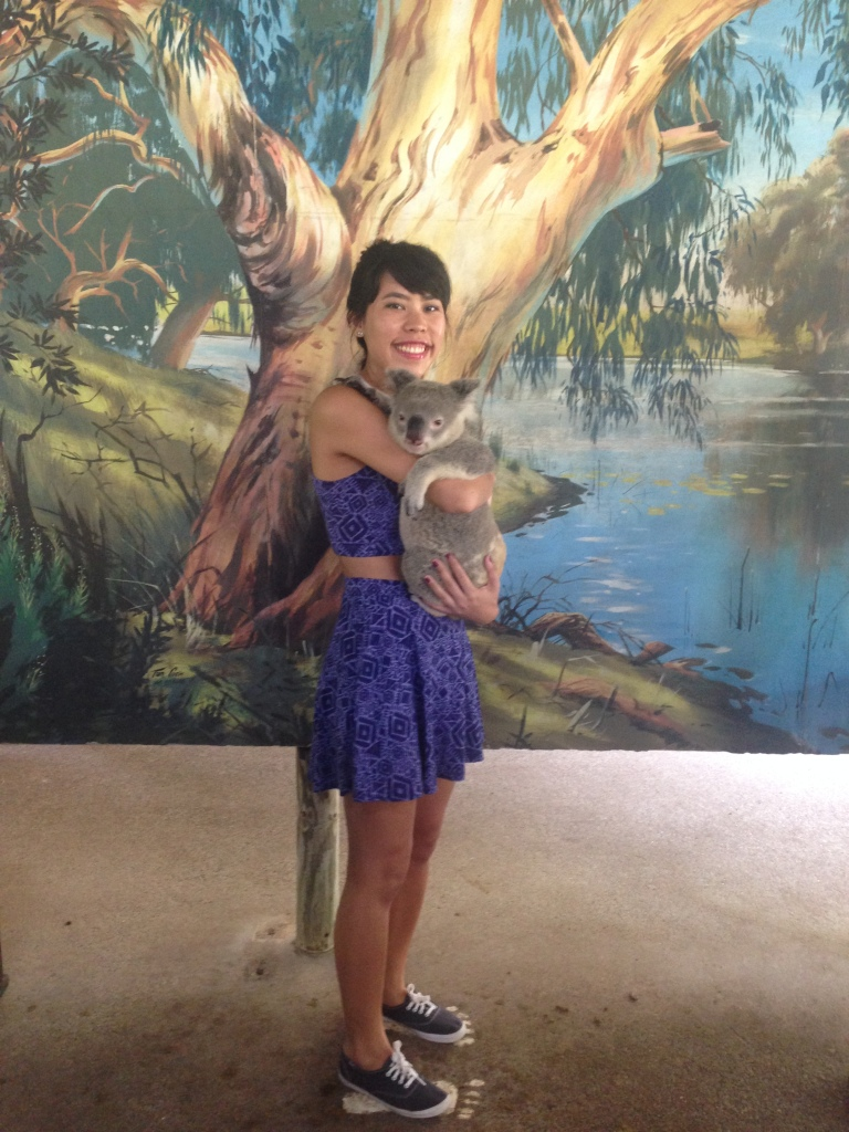 Holding a koala (Photo credit: Amanda)