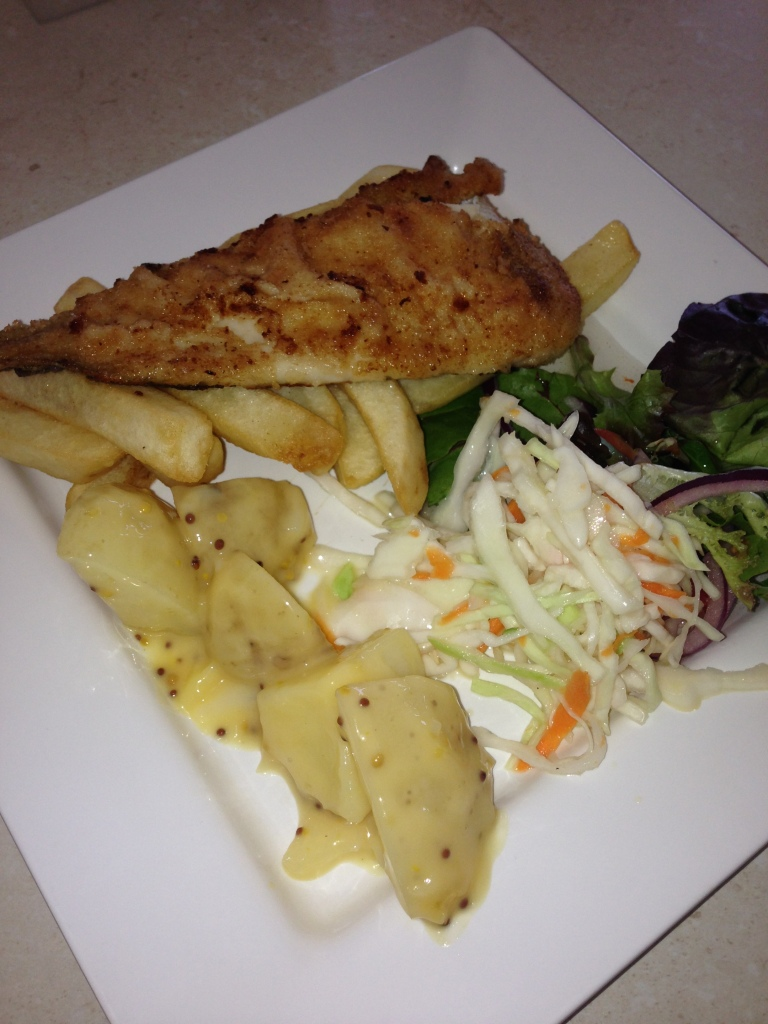 Fish and chips at Iluka Restaurant in Apollo Bay