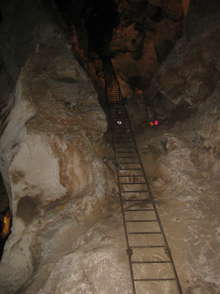You'll have to climb this ladder to get to the caves (just kidding!)