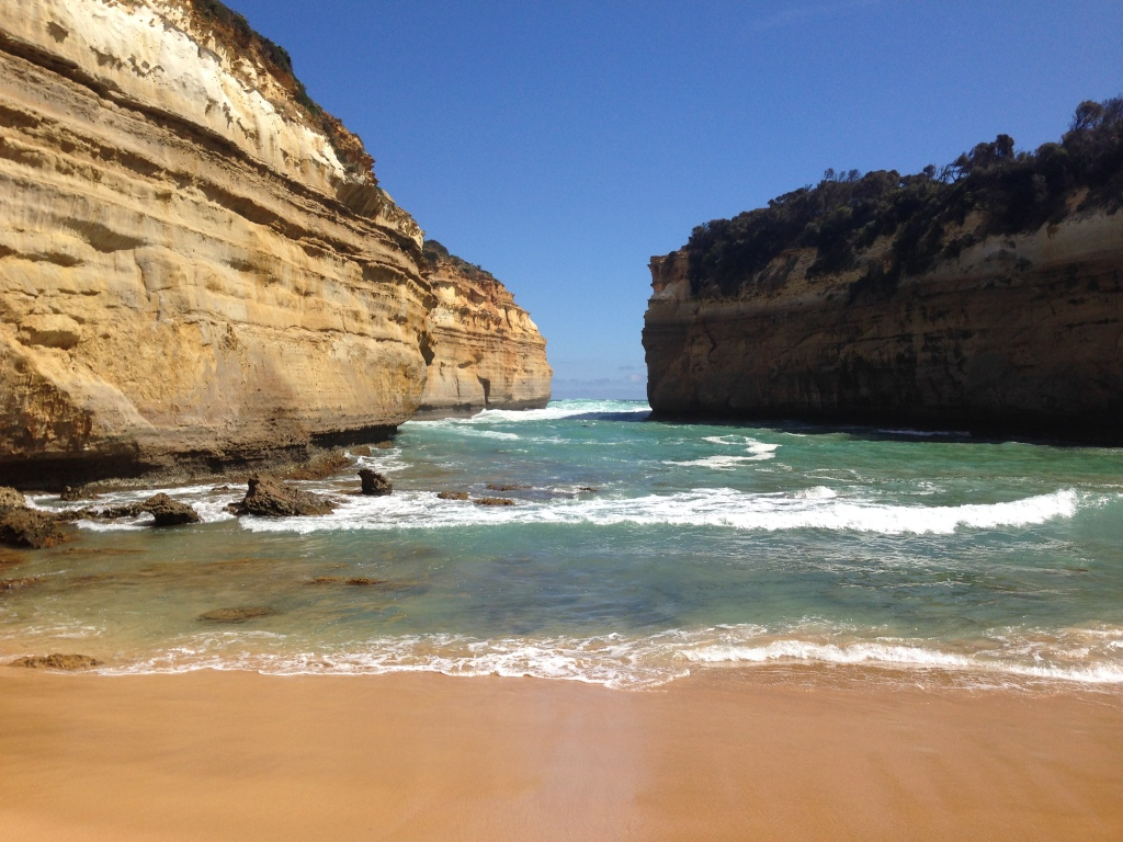 """Loch Ard Gorge - named after the the ship, Loch Ard, which journeyed from England to Melbourne but got shipwrecked. Only 2 out of the 54 passengers survived - a 15-year-old ship's apprentice, and a 17-year-old girl emigrating with her family. They went onto make headlines and even though the ship's apprentice was engaged already, everyone pressured him to propose to the other survivor. So he did, and she said, """"No thanks!"""""""