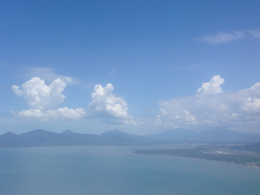A view of Cairns right before landing