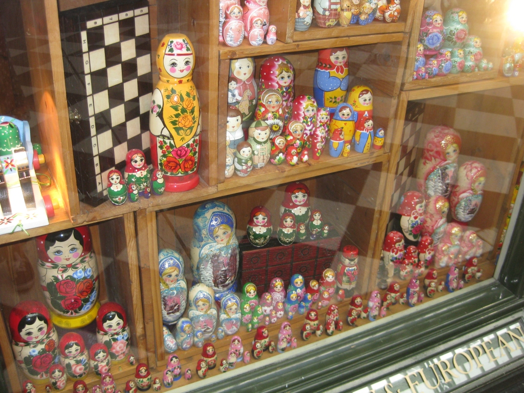 One of the shops in the Royal Arcade that sold Matryoshka dolls