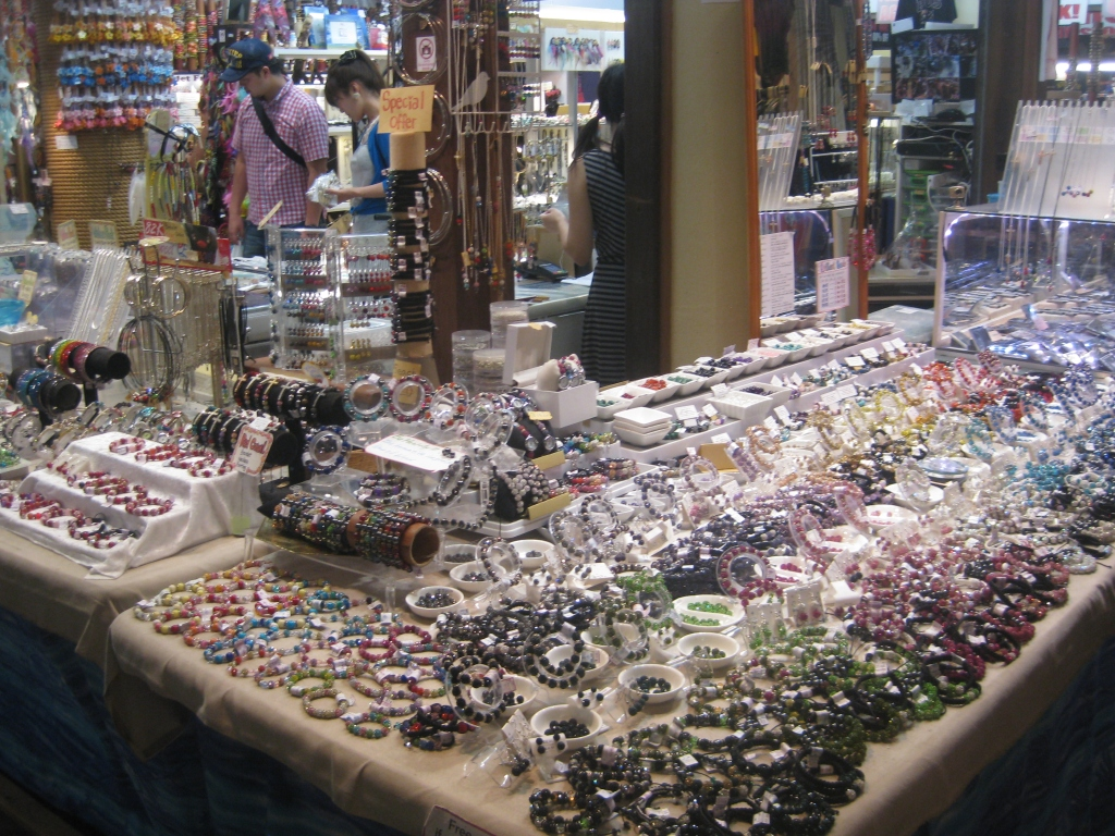 Lots of jewelry for sale at Cairns Night Markets