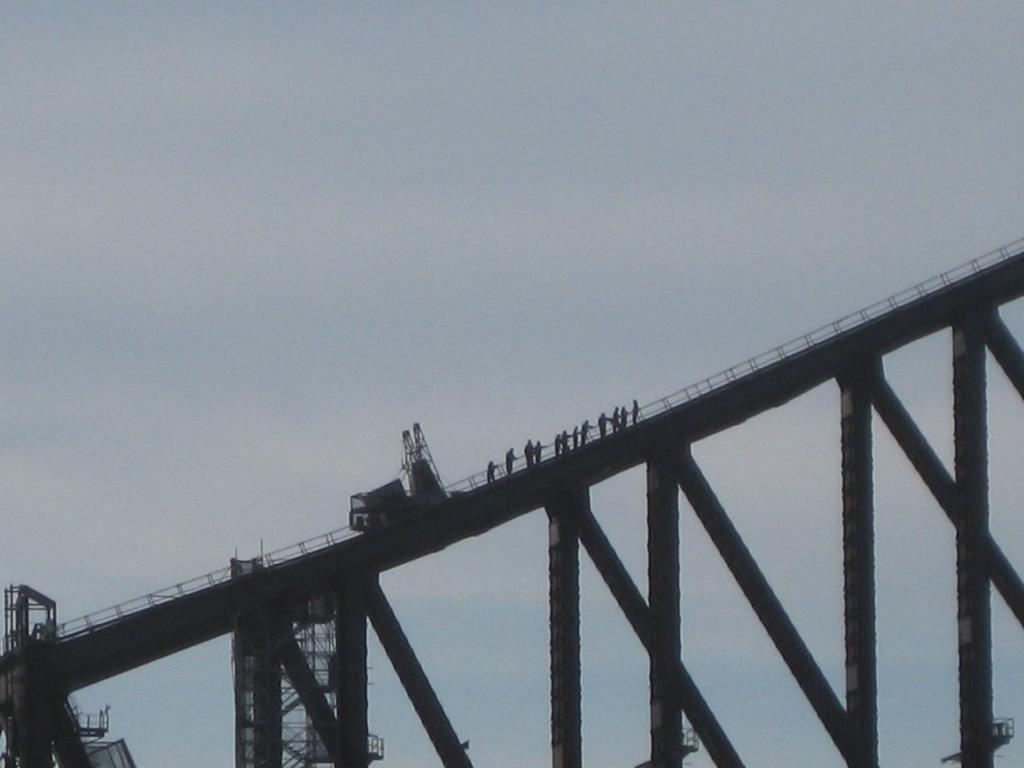 Bridge climbers!