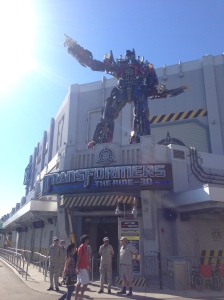 Transformers - probably my favorite ride in the park. It makes a HUGE difference if you're sitting front row for these 3D rides.