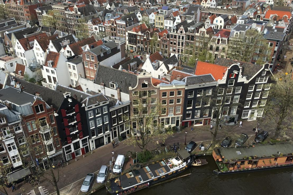 a bird's eye view ofamsterdam