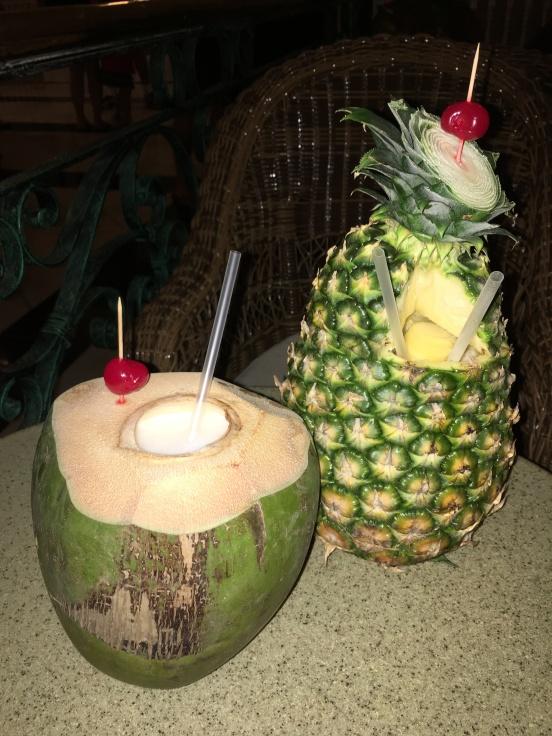 Coco loco and pina colada