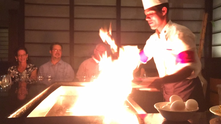 Hibachi dinner and a show at Maiko