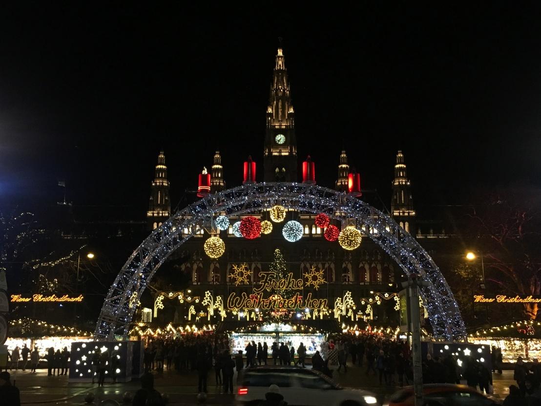Rathausplatz Christmas Market at Night 13