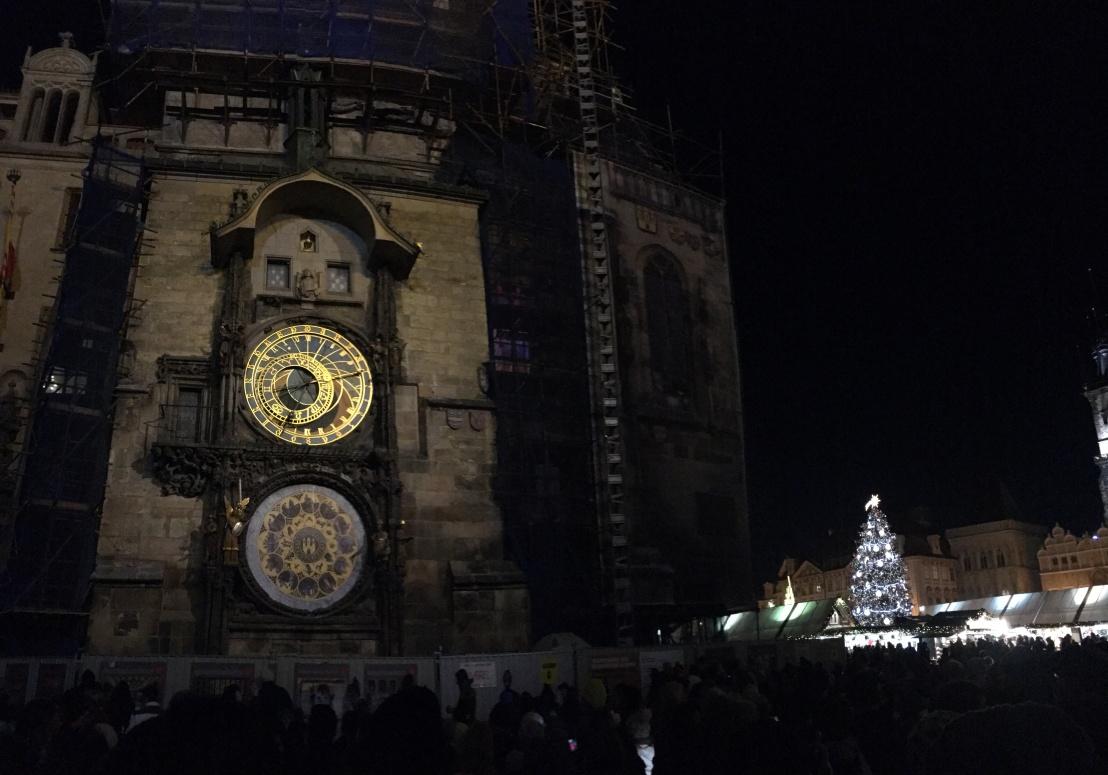 Prague Astronomical Clock:Old Town Square Christmas Market 5.JPG