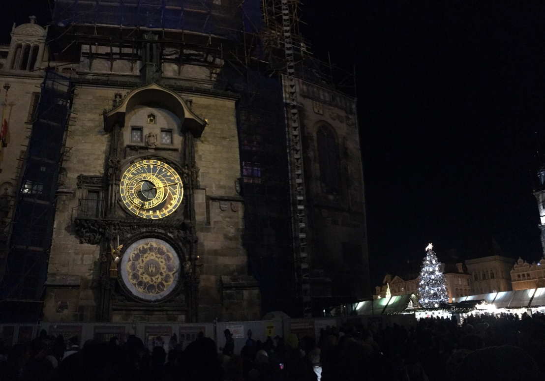 Prague Astronomical Clock:Old Town Square Christmas Market 5