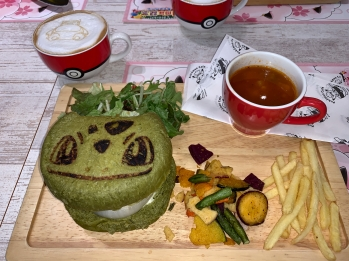Bulbasaur veggie burger