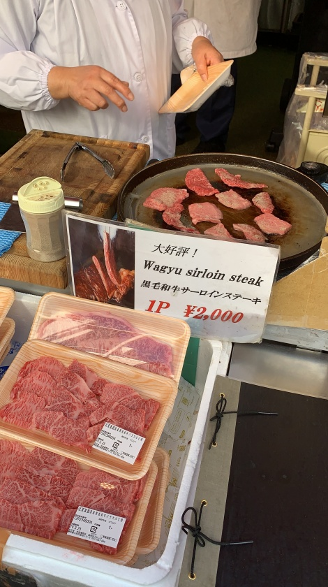 Wagyu @ Tsukiji Market (before grilling)