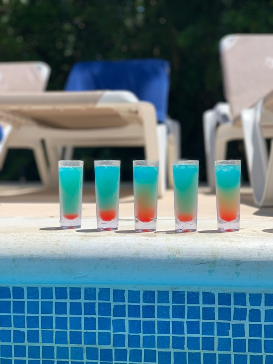 Specialty shots by the pool
