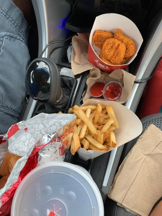 Wendy's = road trip essentials = that's what these cupholders were made for