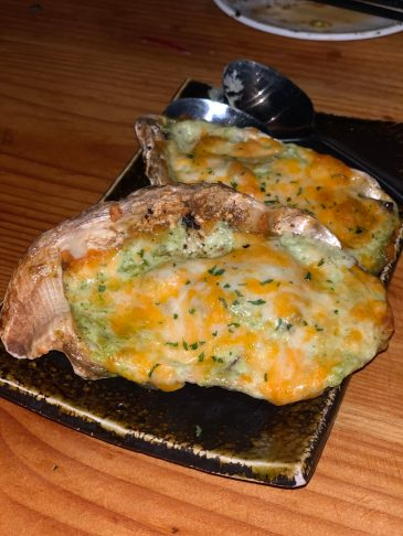 Cheesy, broiled oysters