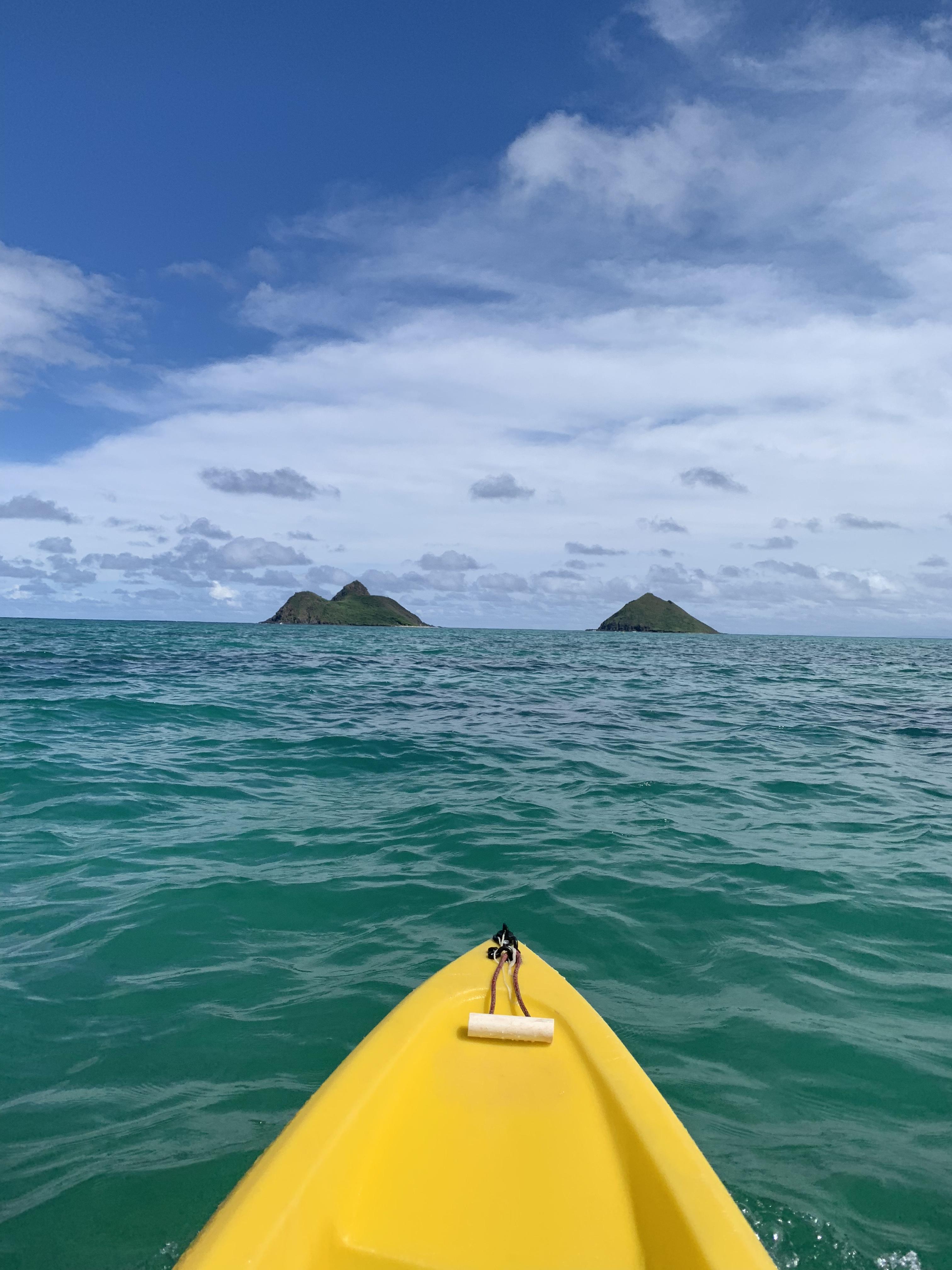 Kayaking at Kailua 4